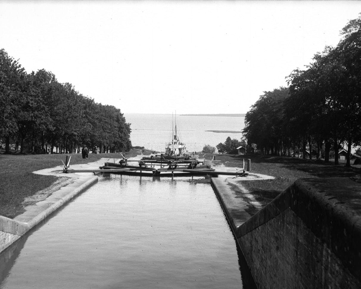 Gta Canal, and the lock at Motala, stergtland, Sweden